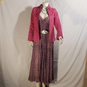 Margaret Godfrey pink leather lace jacket unisex
